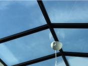 Een lichtstraat op een plat dak